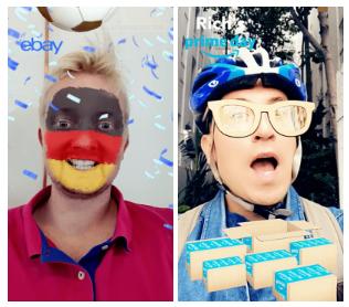 Filtres de marques sur Snapchat