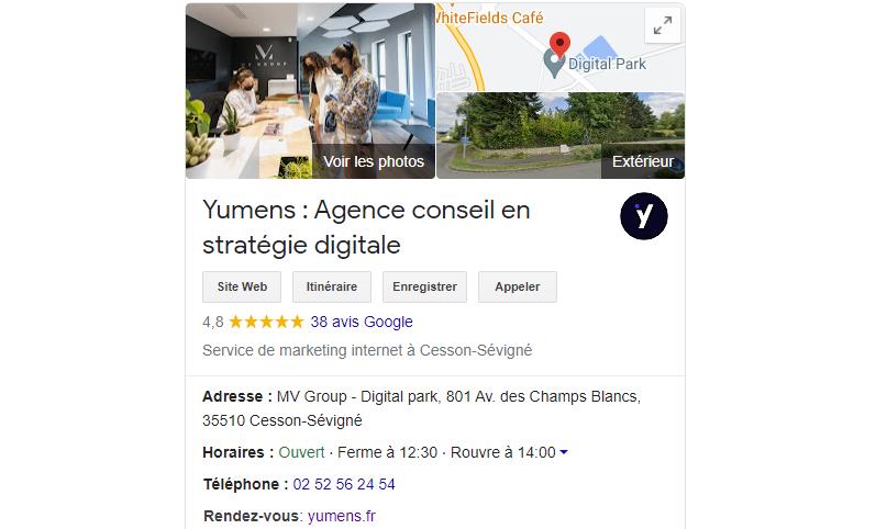 Google My Business Yumens