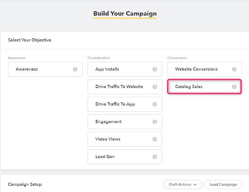 Capture d'écran du Campaign Builder