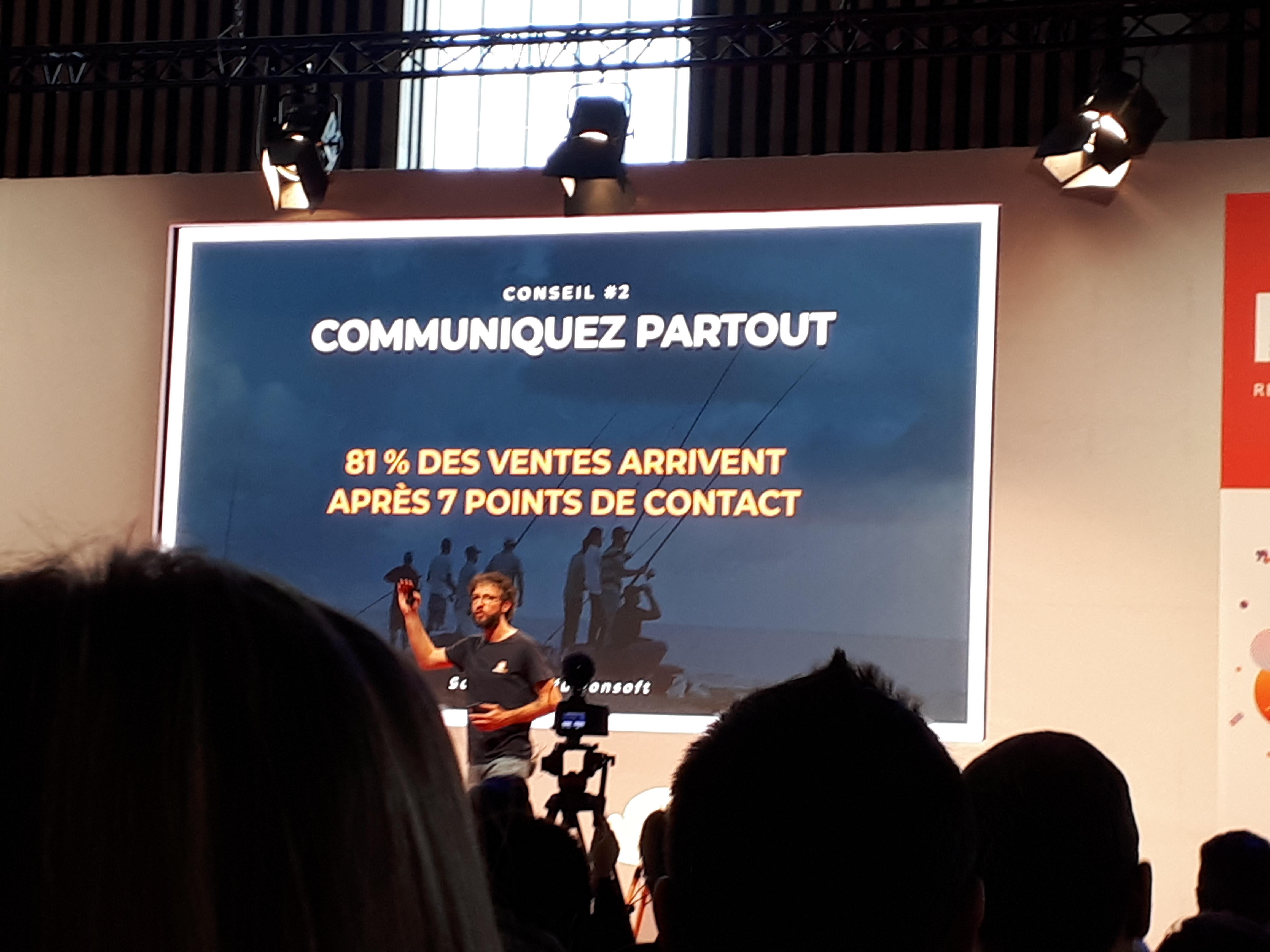 Communiquez partout - 81% des ventes arrivent après 7 points de contact