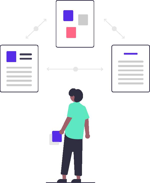 Illustration du concept de conception de site