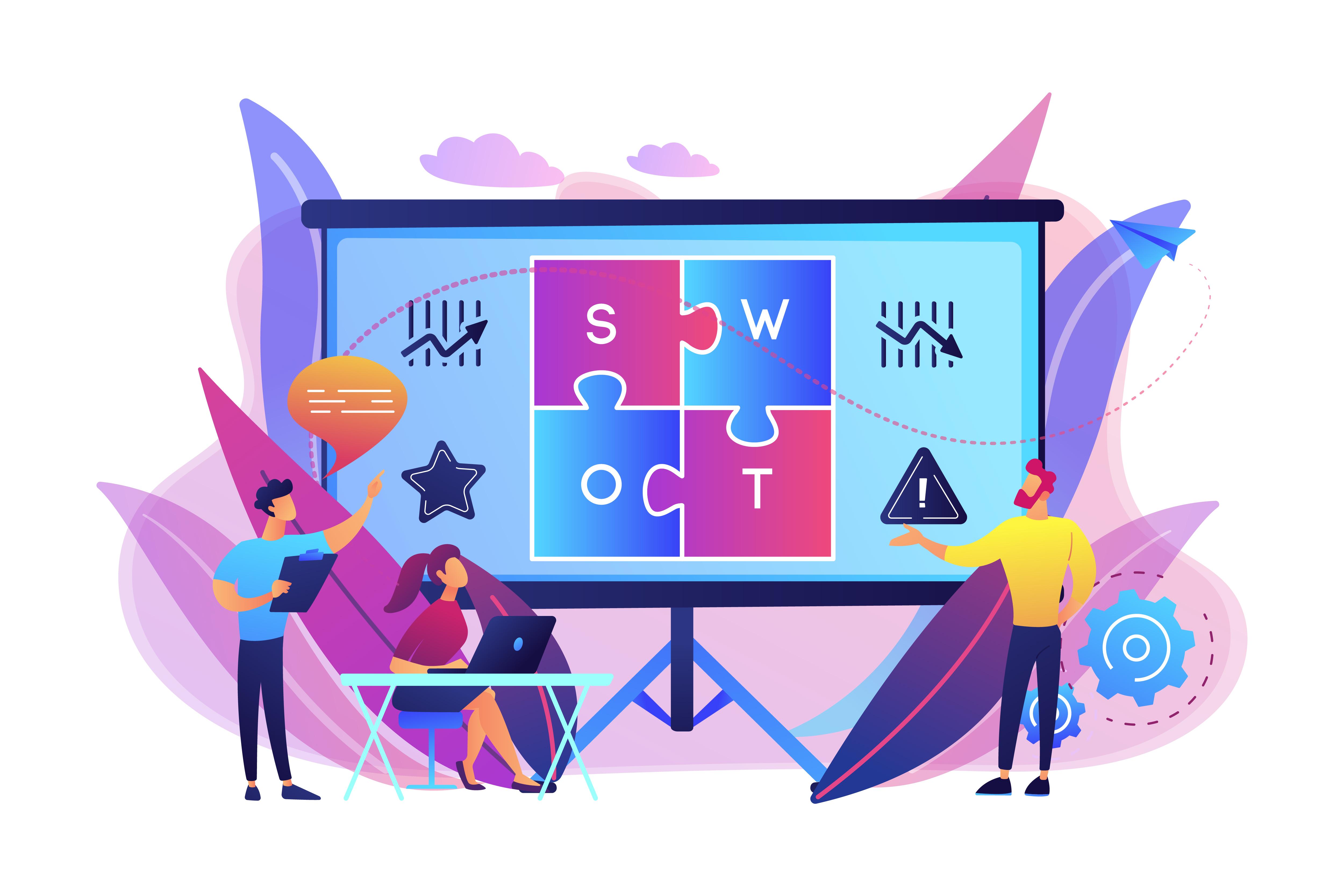 Illustration du concept de SWOT